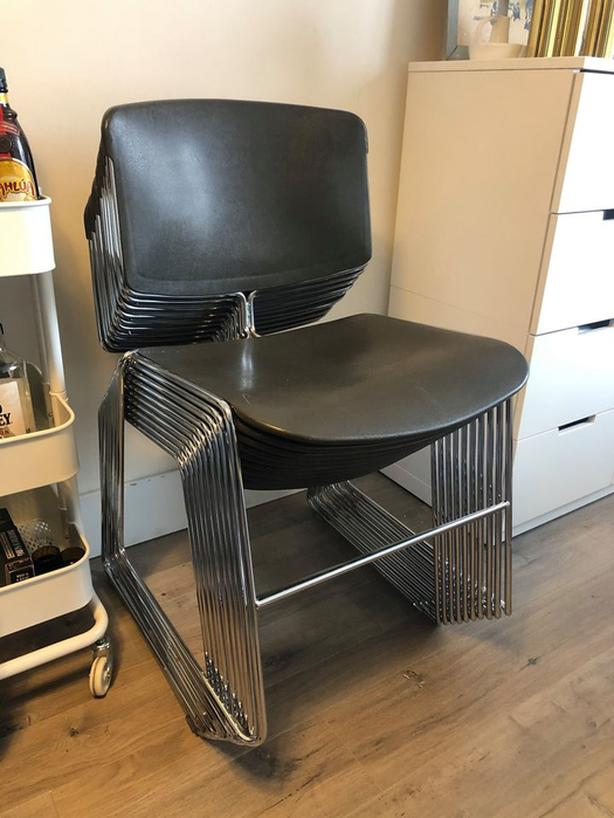 MCM Stackable Chrome & Resin Dining Chair