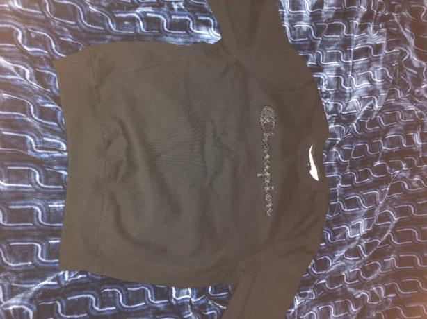 Black On Black Champion Sweater, Size Large
