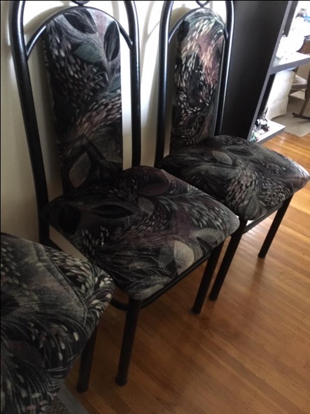 Velour Kitchen Chairs