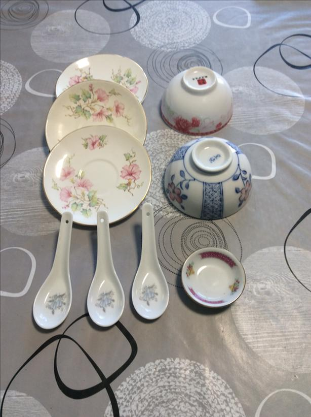 Dishes, bowls and spoons