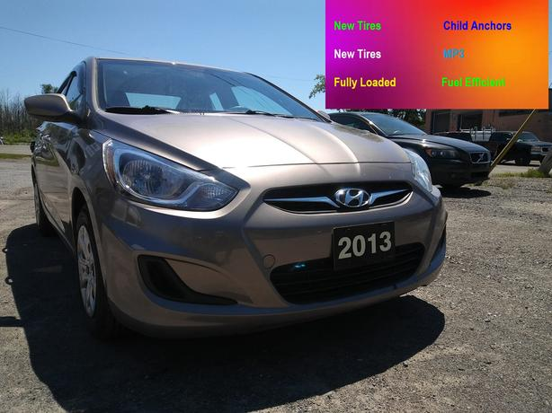 SAFETIED, 2013 Hyundai Accent-Brand New Tires & 129,000kms