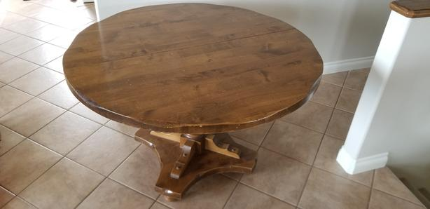 4ft round table with leaves