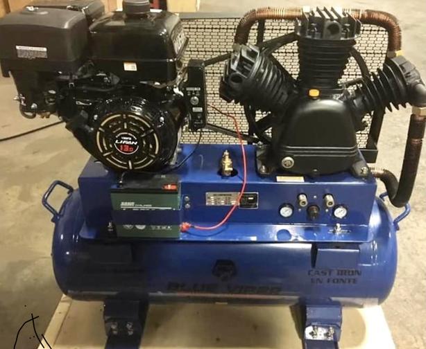 NEW 150 L 13 HP E START MOBILE AIR COMPRESSOR GAS PORTABLE 4013H