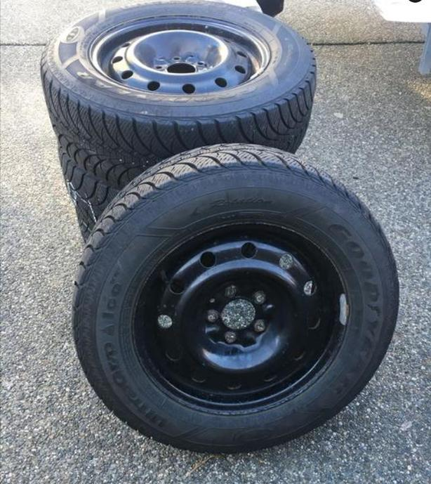 Winter Tires with Rims- 215/65R16 Goodyear Ultra Ice
