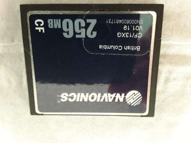 BC Navionics 256 mb BC Marine waters SD Card