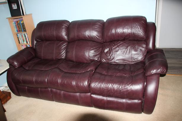 Reclining Leather sofa and chair