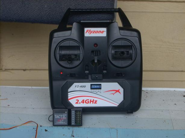 Flyzone 4CH Transmitter and Tactic Receiver