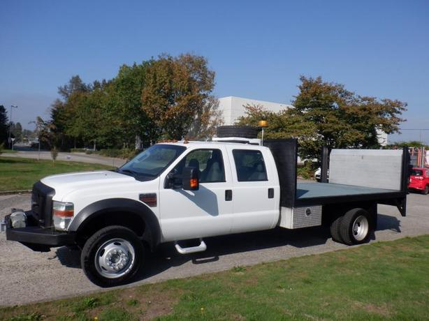 2010 Ford F-450 SD Flat Deck  12 foot Crew Cab 4WD Power Tailgate Diesel And Win