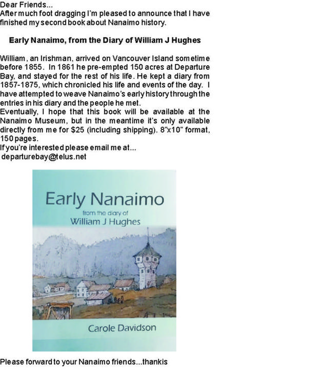 Early Nanaimo from the Diary of William J Hughes