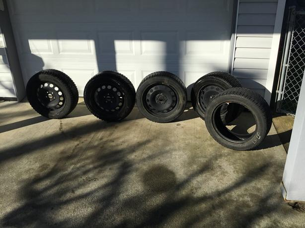 VW Snow Tire's on Rims