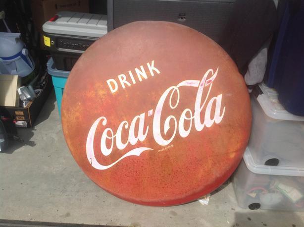 1950s  36 inch Coke button , Parksville area
