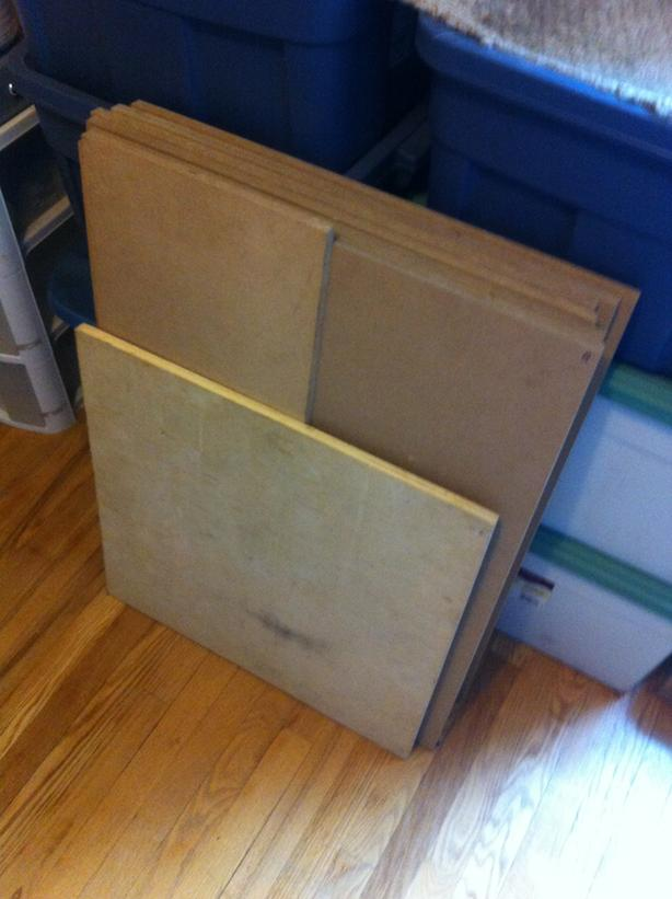 MDF & plywood wooden boards (set of 8)