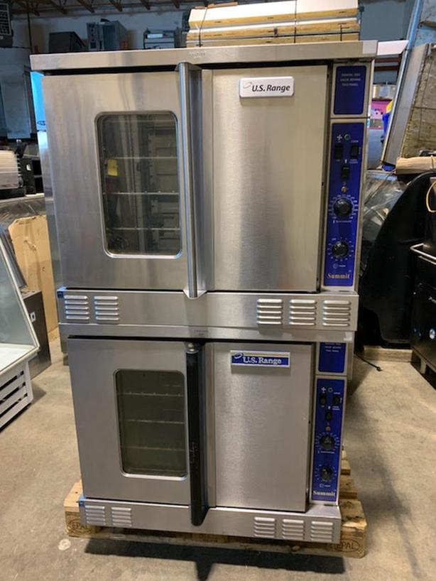 U.S. RANGE DOUBLE STACK N/G CONVECTION OVENS.