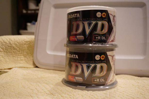 Ridata DVD+DL White Inkjet Hub Printable Double Layer