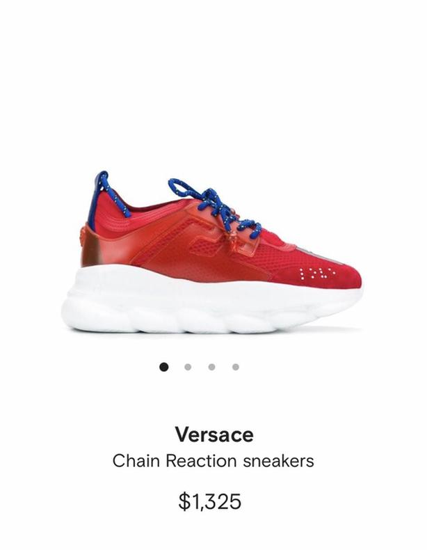 FREE: Versace Reaction Chain Sneakers