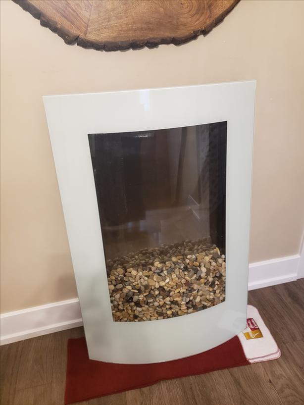 Modern White Eletric Fireplace