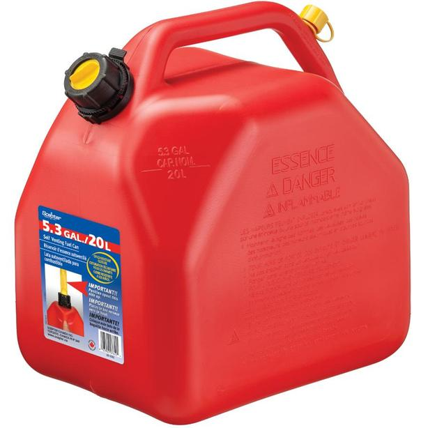 SCEPTER Gasoline Gas Fuel Tank Jerry Can - 20L / 5.3 Gal
