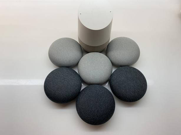 Set of Google Homes (1 Home + 6 Minis)