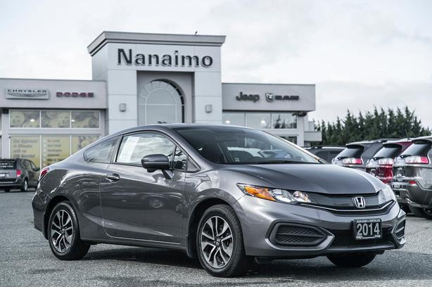 Used 2014 Honda Civic EX Low Kilometers Power Sunroof Coupe