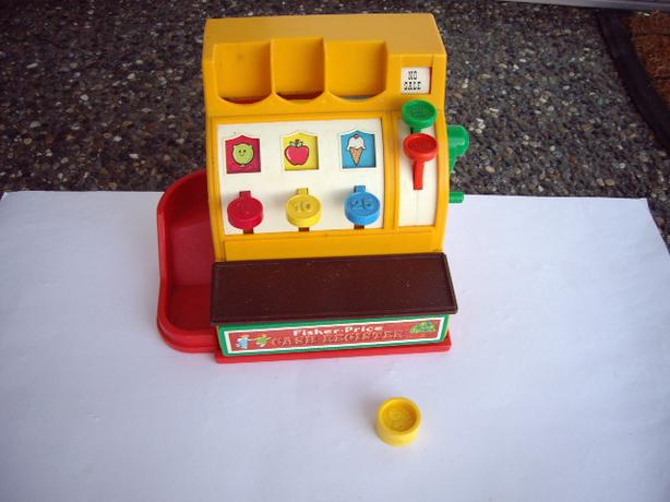 FISHER PRICE VINTAGE CASH REGISTER