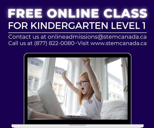 Try Our STEM-based Online Class Trial for Kindergarten level 1