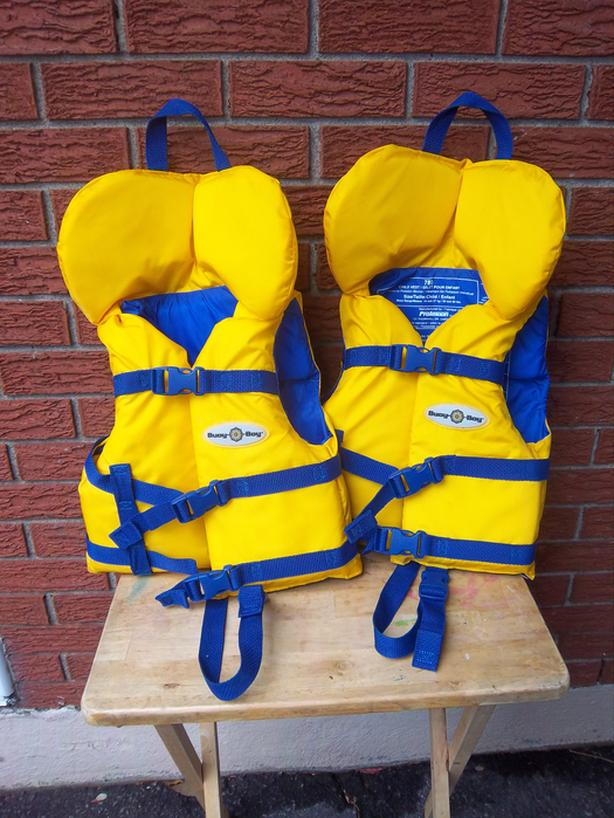 Buoy O Boy life jackets, $15 each