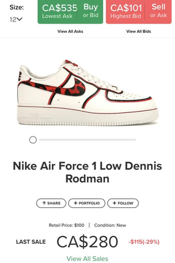 Dennis Rodman Airforces