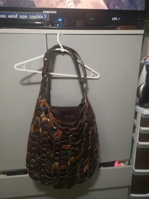 (De.De) Woven Leather multi coloured Handbag   $60