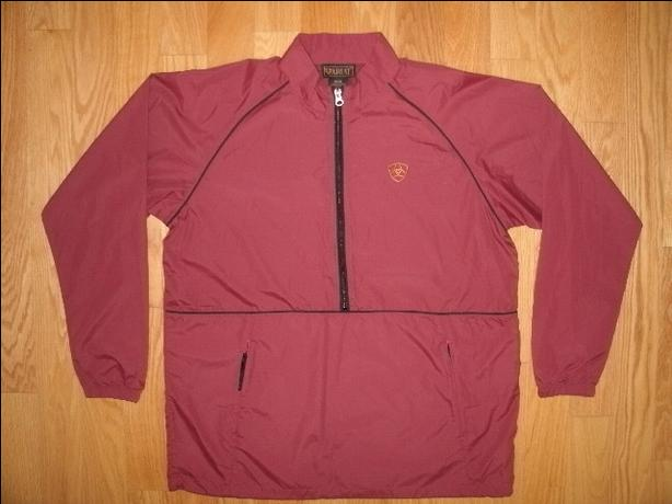 New Ariat Pullover 1/2 Zip Windbreaker - Adult Size Medium