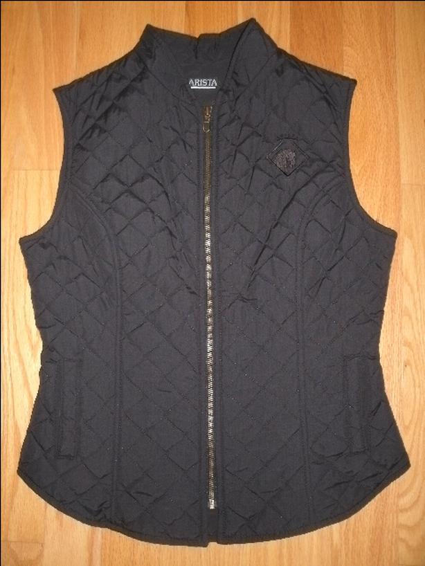 NEW Arista Black Vest Size Medium