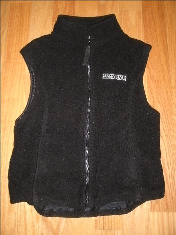 Harry Hall Black Fleece Vest Size XS/Small