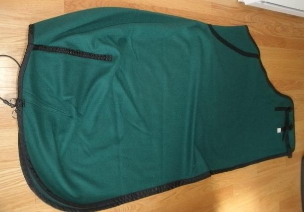 """NEW Hunter Green Medium Weight Wool Blend Cooler Size 80 - 82"""" $40"""