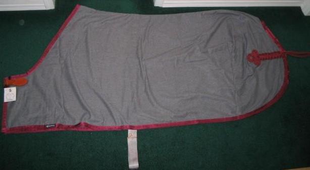 NEW Triple Crown Pimlico Gray Wool Dress Sheet Size 80