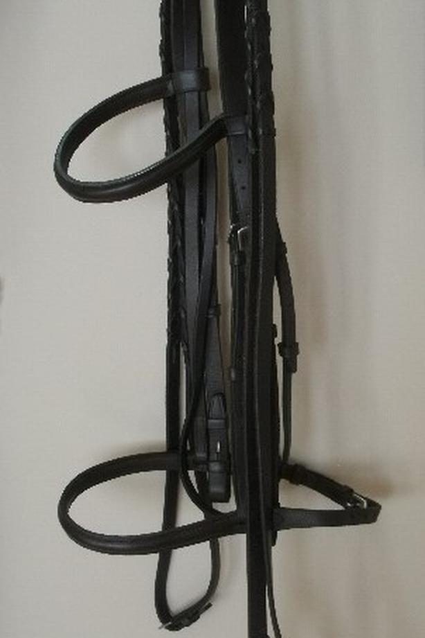 Bridle Rein Set Full Size Raised Leather $55