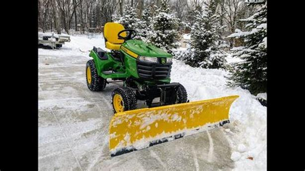 John Deere Snowplow with accessories. No tractor