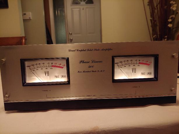 Phase Linear 400 Amplifier Completely Recapped and Upgraded Amp