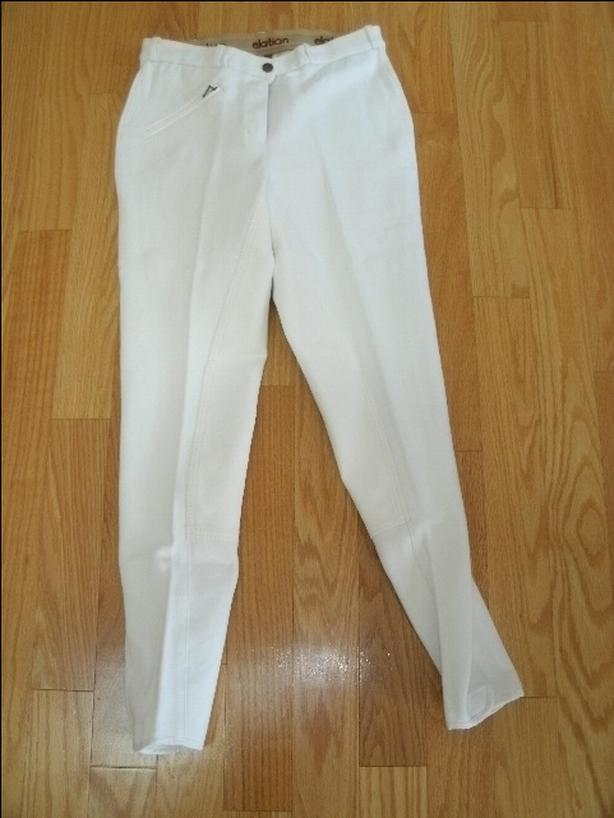 NEW Elation Red Label White Full Seat Breeches Size 30 Long