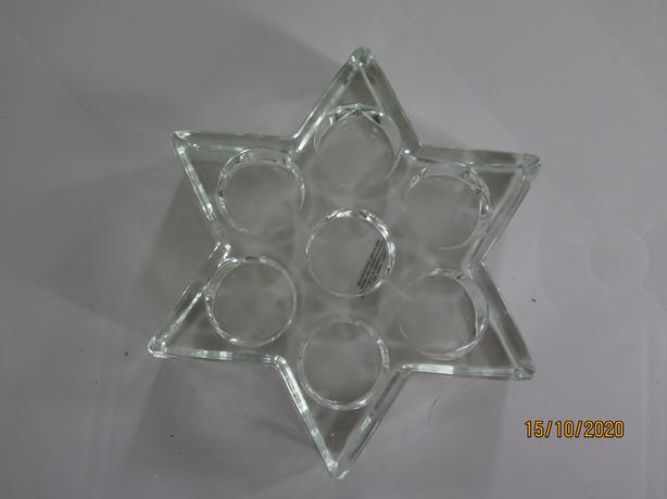 Glass Star Shaped candle holder