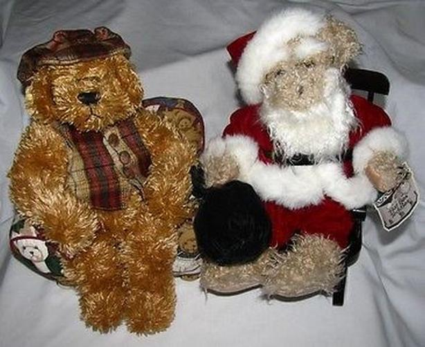 Avon Christmas Hat Box Teddies Teddy Bear Mixed Lot of 2 Chester & Nicholas