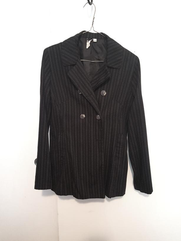 Black Pinstriped suit blazer