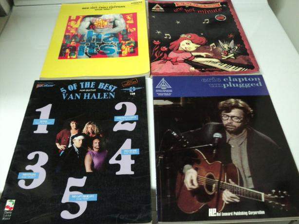 GUITAR TABLATURES $5 EACH CLAPTON, VAN HALEN & 2 RED HOT CHILI PEPPERS