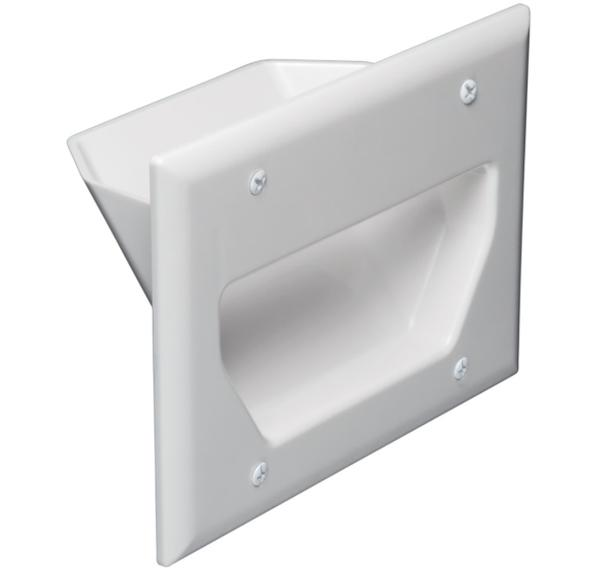 Recessed Wall Plate White 3 Gang