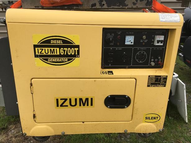 izumi 6700t diesel generator