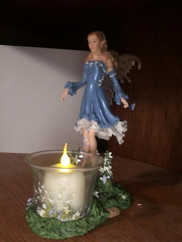 Fairy Figurine and Candle Holder