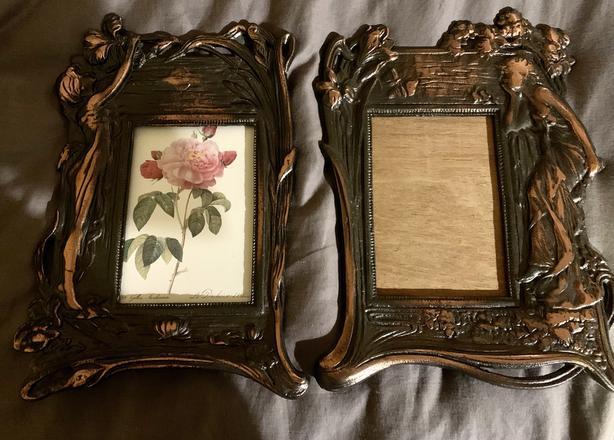 Antique art nouveau picture frames