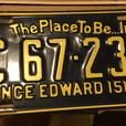 """VINTAGE P.E.I. """"THE PLACE TO BE... IN 73"""" LICENSE PLATE SET"""