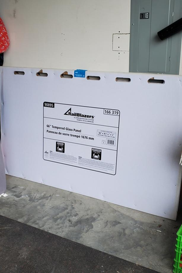 9 x RailBlazers 63 inch Glass Panel (for Deck Railing)