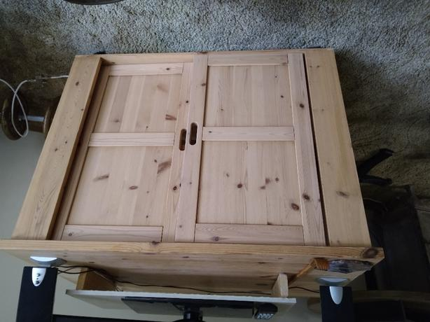 wooden cupboard with shelf