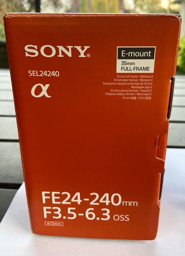 Sony 24-240mm E-mount Full Frame Lens.
