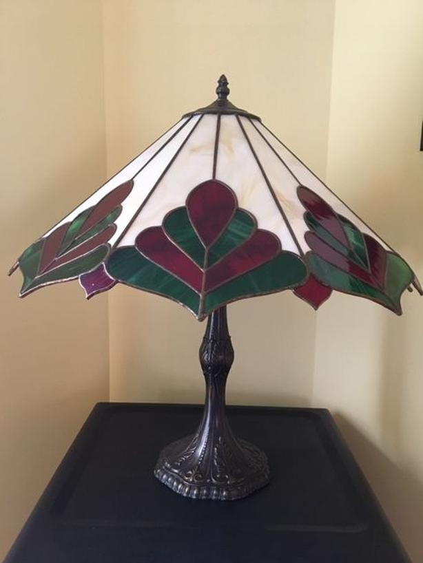 Stained Glass Lamp with Base